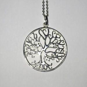 Belk Silverworks CZ Tree of Life Pendant Necklace